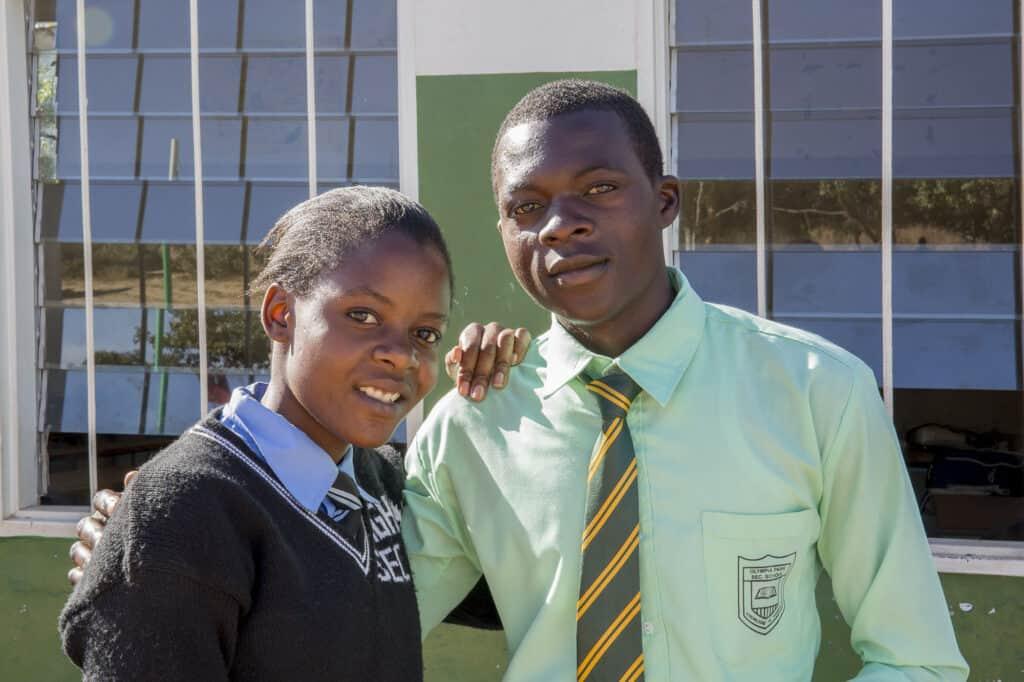 Pupils standing together