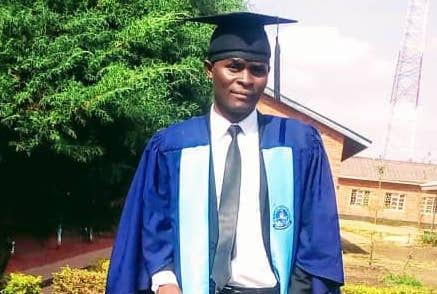 A portrait of Misheck Chishimba, to accompany his testimonial