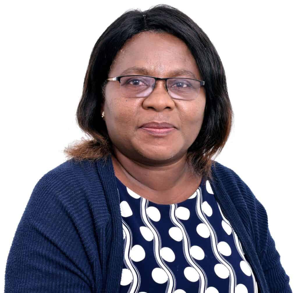 A portrait of Grace Kancheya Nkhuwa, ZOA-Z Chief Executive Officer, to accompany her biography