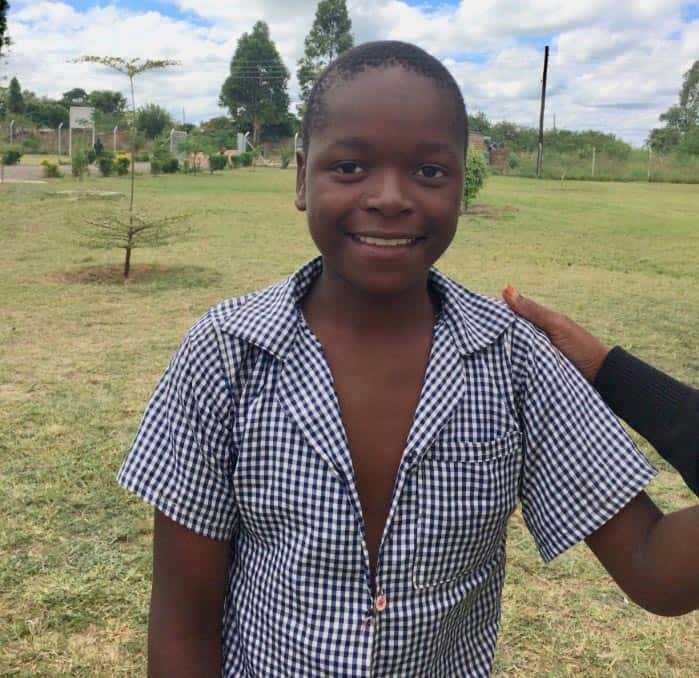 A portrait of Joseph to accompany his testimonial about the support he's received at school