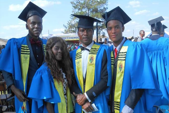 An image of a group of graduates to illustrate our support of tertiary students