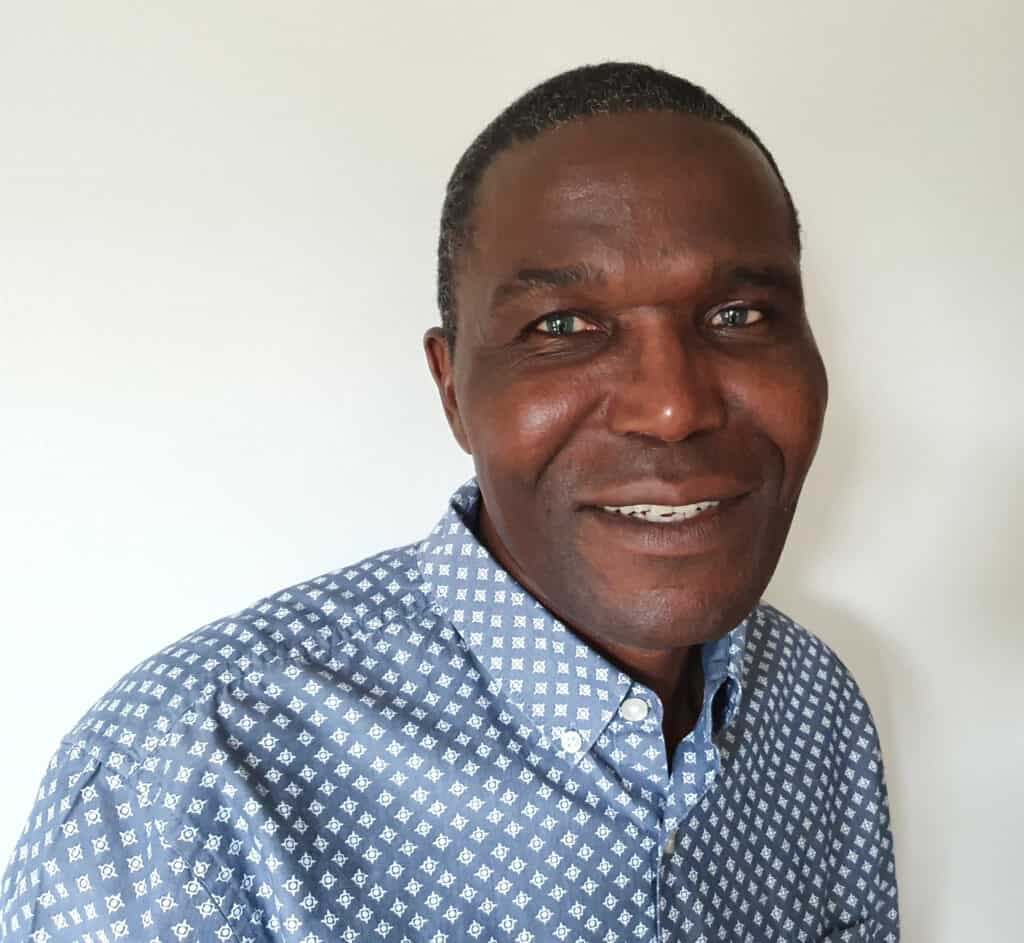 A portrait of Freedom Mpande, ZOA-UK trustee, to go with his biography