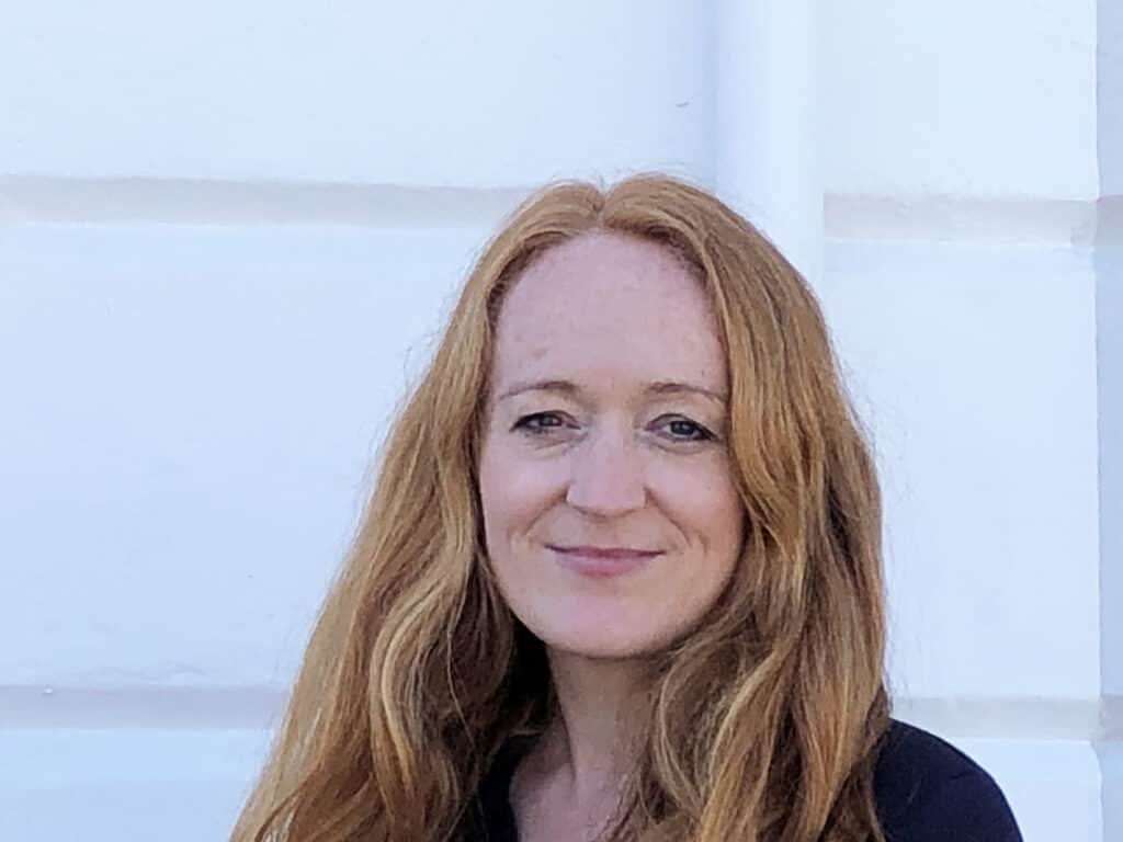A portrait of Katy Dore, Executive Director of ZOA-UK to accompany her biography