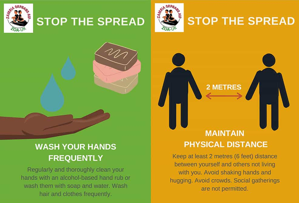 An image showing our STOP THE SPREAD of Coronavirus messages