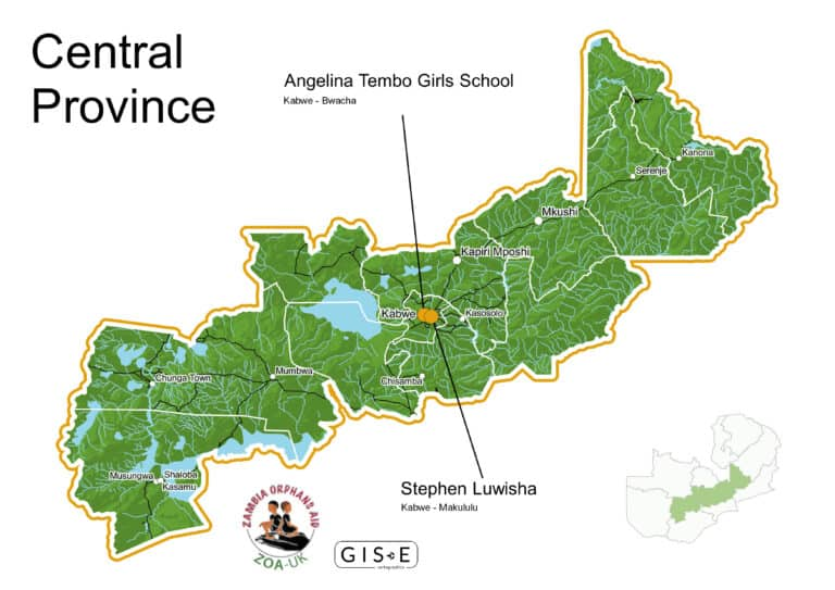 Map of Central Province